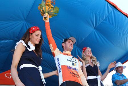 2011 Tour Down Under - Australia Matt Goss on the Podium