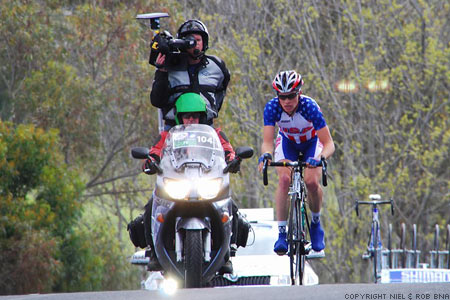 2010 UCI World Championships Melbourne: Ben King (USA) retains his lead on the pelotone