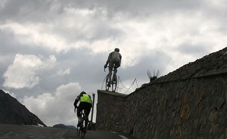 Trans-Pyrenees Racing up the Tourmalet
