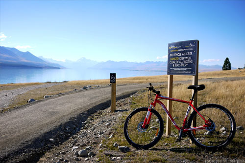 The Tour of New Zealand Alps2Ocean Cycle Trails Lake Pukaki