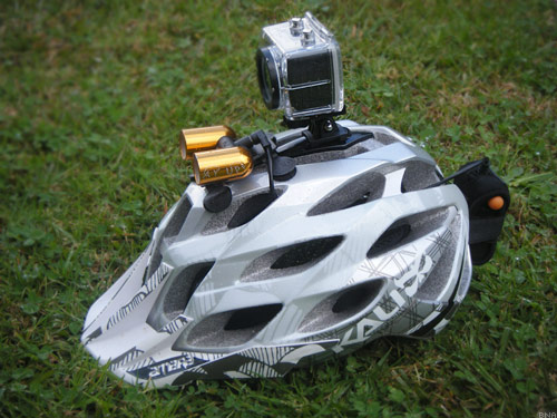 helmet and light mounted camera helmet