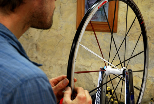 The Swiss Side France Wheel on a Truing Stand