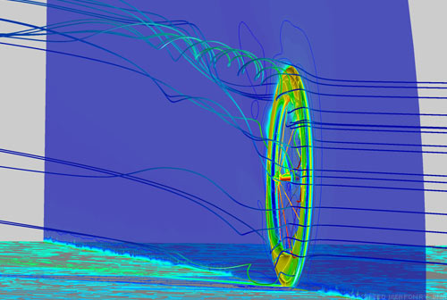 Zipp Computational Fluid Dynamics 808 rotating with rake