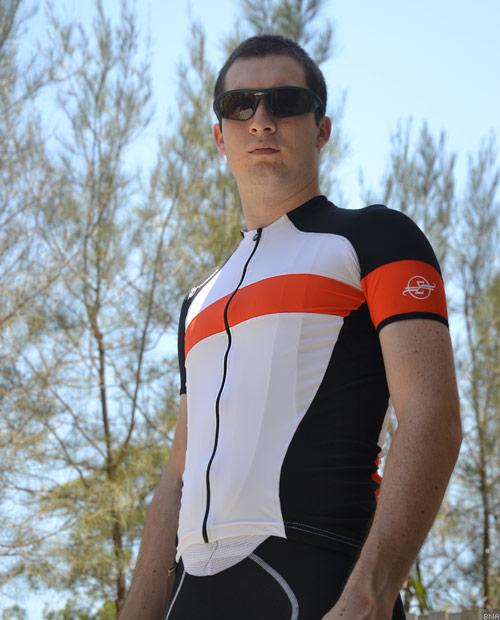 Sumattory Spanish Hermida Orange Stripe Cycling Jersey
