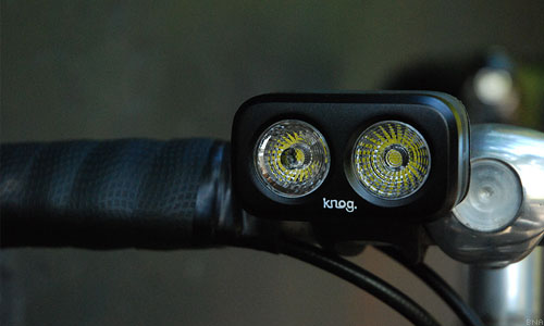 Knog dual cree led light bike powered