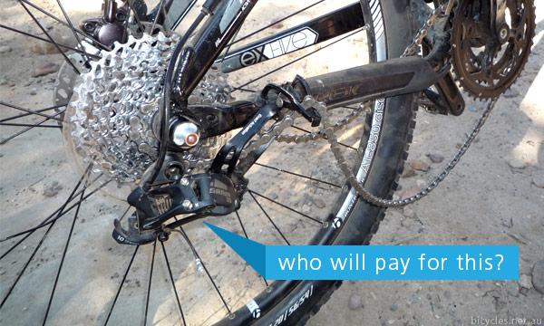 Broken Bike Parts