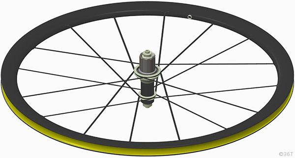 36T Australian Carbon Fiber Rearwheel