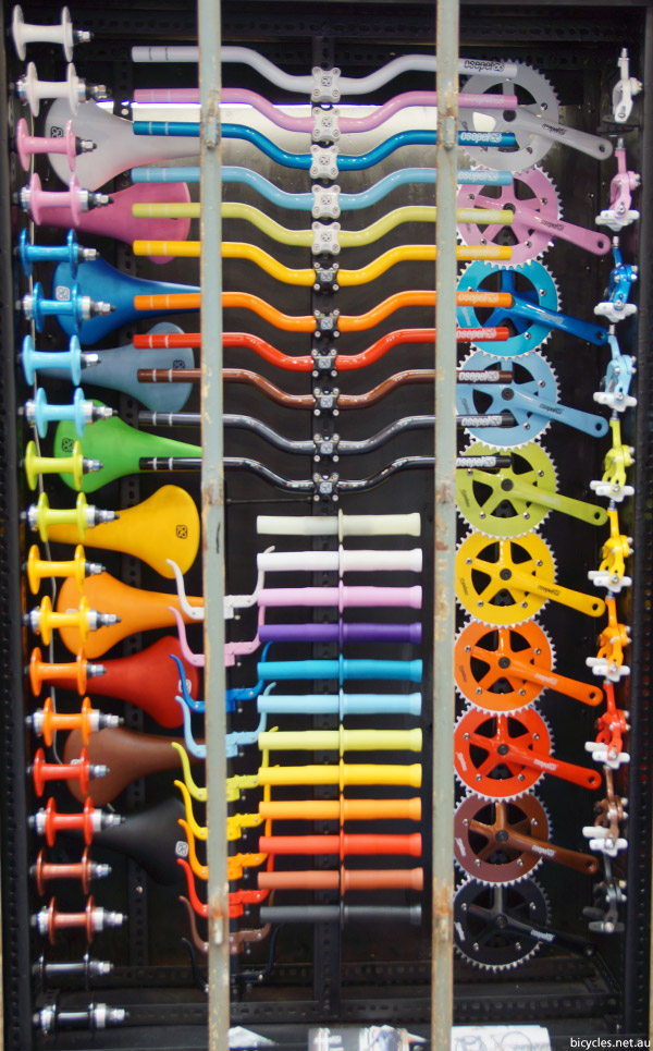 Csepel hungary colourful bicycle parts