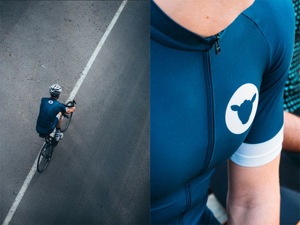 Black Sheep Blue Cormo Cycling Kit
