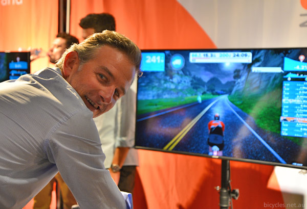 zwift cycling computer game