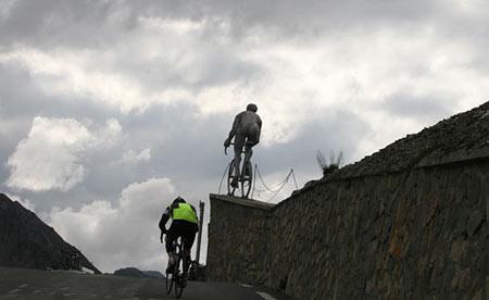 Trans-Pyrenees Racing up the Tourmalet