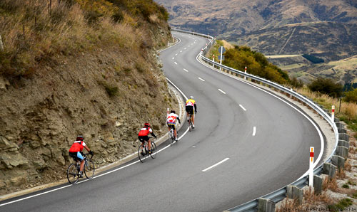 The Tour of New Zealand Crown Ranges Ascent