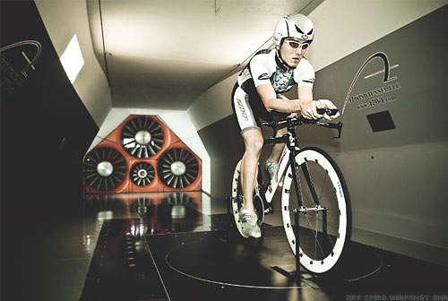 Zipp Wind Tunnel Testing with Yaw