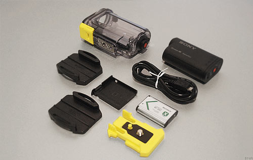 Sony Action Cam package contents