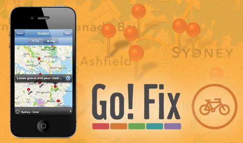 Go! Fix app Report Cycling bicyles street problems