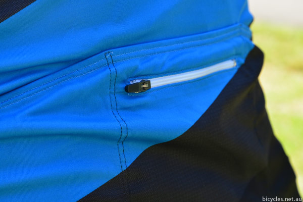 cycling jersey pocket zipper
