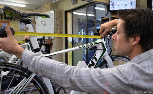 measuring bike dimensions