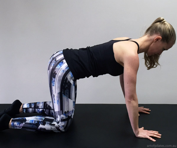 cycling pilates four point thoracic rotation