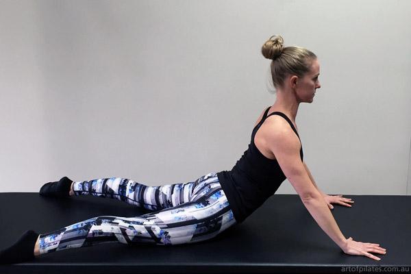 cycling pilates swan stretch