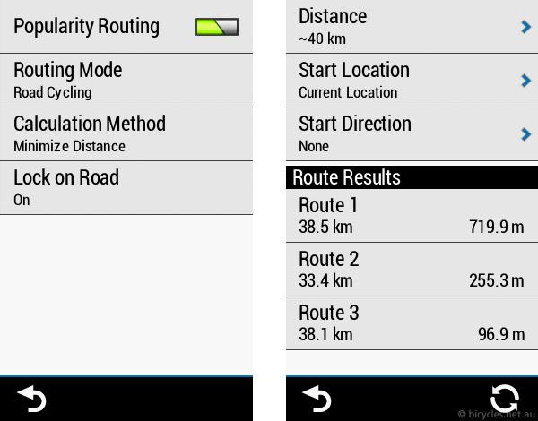 garmin 1030 trendline route
