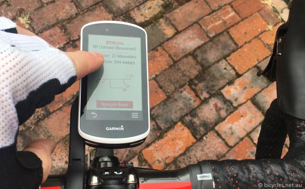 garmin- edge 1030 touchscreen