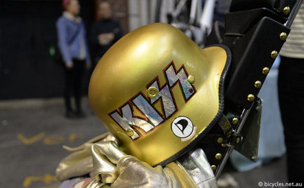 fire brigade soldier helmet bicycle kiss