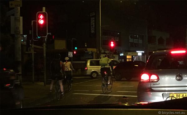 sydney cycling traffic