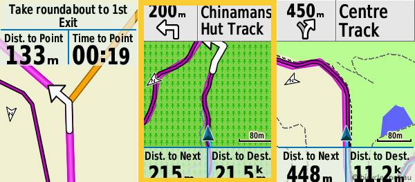 garmin edge navigation